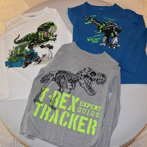 Boys long sleeve dinosaur shirts